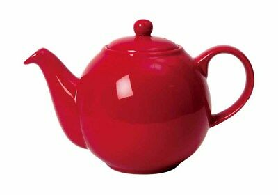 London Pottery 2 Cup 0.5L Small Ceramic Red Globe Teapot Tea Pot New Boxed