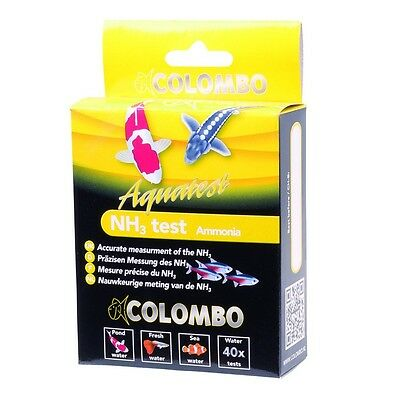 NEW Colombo Aquarium / Pond NH3 Ammonia Test Kit Tropical Fish Discus Koi Carp