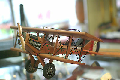 Vintage Decorative Model Airplane of Jenny from a Hanger