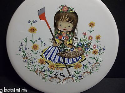 Vintage English Tile NURSERY RHYME Mary Mary Quite Contrary 6""