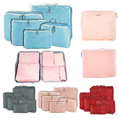 5x Travel Luggage Zipped Storage Bag Clothes Tidy Organizer Case Pouch Suitcase