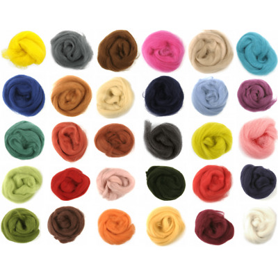 10g 100% Natural Wool Roving Needle Spinning Felting Sewing Craft Fabric Trimits