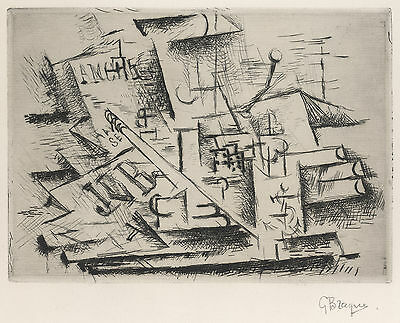 Georges Braque Etching Reproduction: Job, 1911 - Fine Art Print