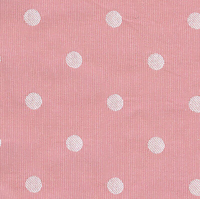 "Cute Candy Pink and White Polka Dot  Fabric 36"" x 31"" piece! Rare!"