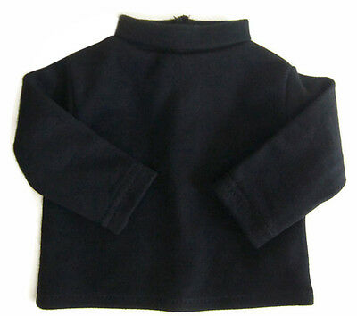 """Black Long Sleeve T-Shirt Turtleneck fits 18"""" American Girl Doll Clothes"""