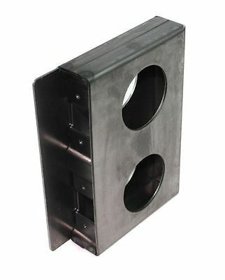 "Gate Lockbox Double Hole Weldable Steel 6 3/4"" x 4 3/8"" x 1 1/4"" Unpainted"