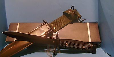 Colt M-7 Bayonet knife and OD Green scabbard Free Shipping