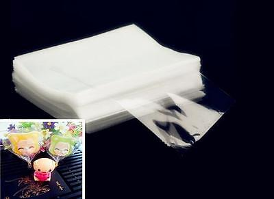 HOK 100pcs Clear Party Gift Chocolate Lollipop Favor Candy Cello Bags Cellophane
