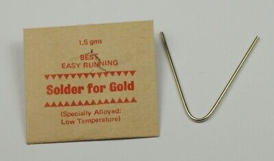 GOLD SOLDER STRIPS 1.5g repairs jewellery rings ect jewellers craft arts Tools