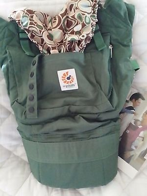 Ergo Baby Carrier New Organic Green River Rock Carrier/ Free Priority Shipping