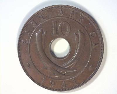 EAST AFRICA 1941 TEN CENTS KM26.1 CHOICE UNCIRCULATED   ~127379
