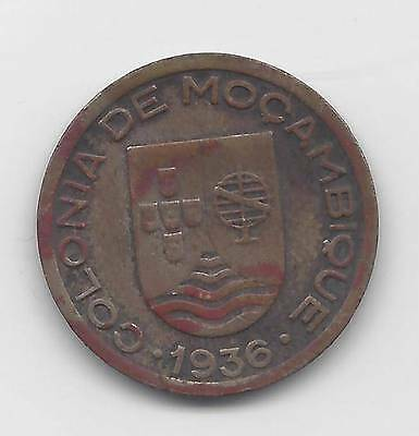 MOZAMBIQUE 1936 FIFTY CENTAVOS KM65 *Crusted* EXTREMELY FINE ~C20