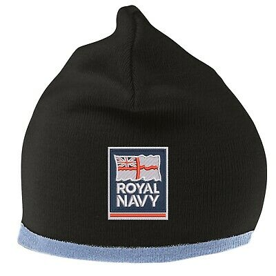 Royal Navy Beanie Hat with Embroidered Logo