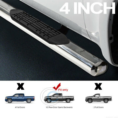 "4"" Ss Chrome Side Step Nerf Bars Running Boards 99-12/13 Chevy Silverado Ext Cab"