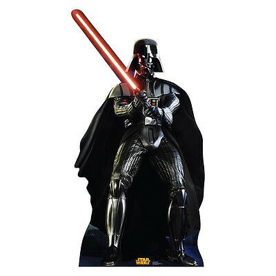 DARTH VADER Star Wars Retouched Lifesize CARDBOARD CUTOUT Standup Standee Poster