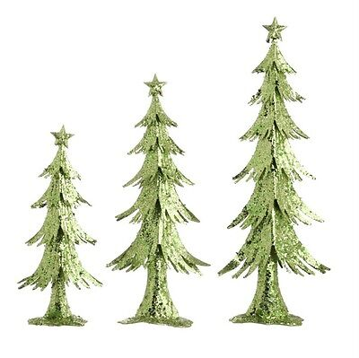 "24"" Glittered Christmas Tree (Set of 3), Raz Imports"