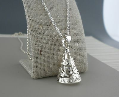 Sterling Silver Celtic Rose Bell Pendant Made in Ireland by Barry Doyle Design