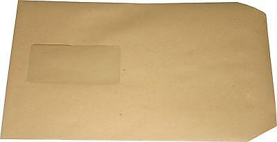 100 St Envelopes A5 C5 Brown with Window Envelopes SK