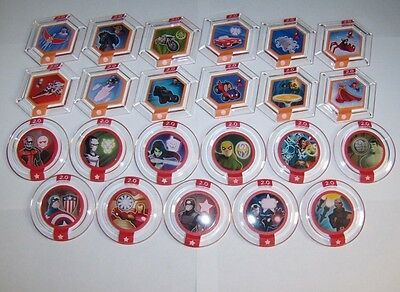 DISNEY INFINITY 2.0 Marvel Heroes Power Disc Lot Pick any 2 to Complete Your Set
