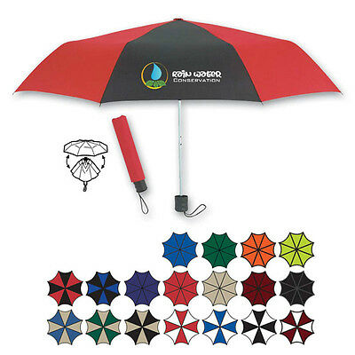 FOLDING UMBRELLAS - 50 quantity - Custom Printed with Your Logo