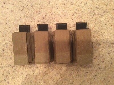 4x Real Eagle Industries 9mm 15 Round Pistol Mag Pouches Kydex FB BRN Multicam