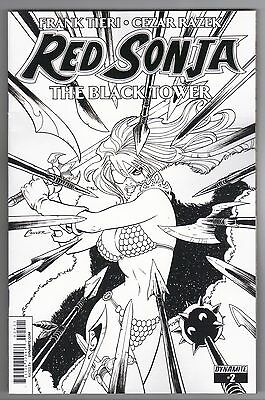 Red Sonja: The Black Tower #2 Amanda Conner B & W Sketch Variant Cover - 1/10