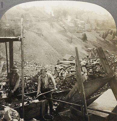 Keystone Stereoview Nightingale Gold Mine, Bull Hill, CO From Rare USA 100 Set