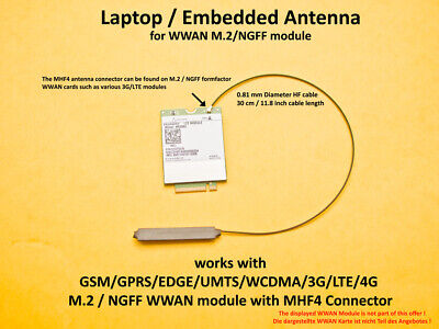 MHF4 / IPX Laptop /Embedded Antenna for WWAN 3G/4G/LTE  NGFF / M.2 Module
