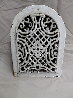Antique Cast Iron Arch Dome Top Wall Heat Grate Register Gothic Vintage 3801-14