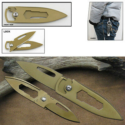 Cave Cricket Free Lock Utility Folding Pocket Knife Blade