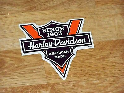 SINCE 1903 HARLEY DAVIDSON Motorcycles AMERICAN MADE Outside Decal Sticker Rare!