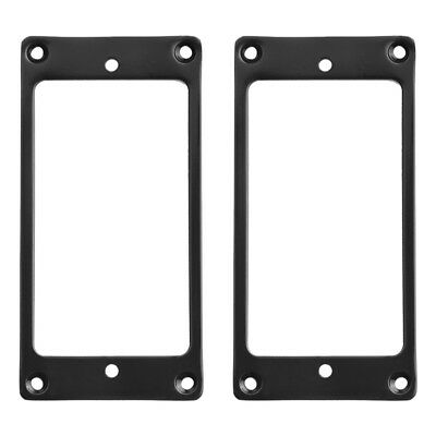 2 Pcs Flat Metal Humbucker Pickup Mounting Ring Black