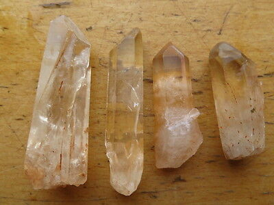 4 NATURAL Clear Lemurian Seed Quartz Crystal Point  Specimen 88g
