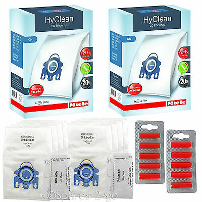 MIELE Vacuum Hoover Dust Bags GN S3800 S5281 Cat Dog Hyclean Filter Genuine x 8