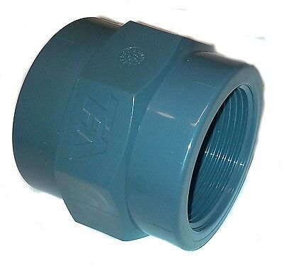 PVC Pipe GluexFemale Threaded FBSP Socket Solvent Weld 20 25 32 40 50 63 75 90mm