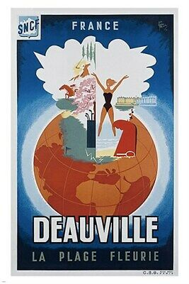The French Alpine Road VINTAGE TRAVEL POSTER 24X36 Colorful Route PRIZED HOT