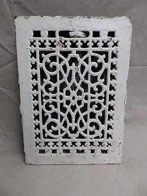 Antique Cast Iron Floor Wall Heat Grate Louvres Victorian Design Old 3807-14