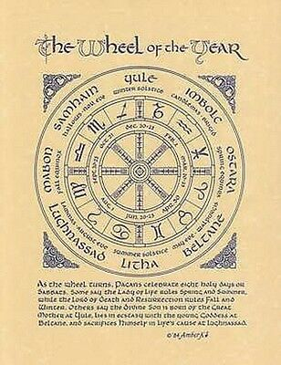 PAGAN YEAR POSTER A4 SIZE Wicca Pagan Witch Witchcraft Goth *BOOK OF SHADOWS
