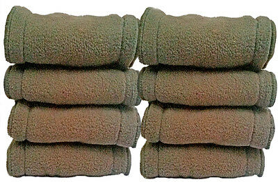 5 Charcoal Bamboo Inserts/Liners/Boosters for Modern Cloth Nappy/DiaperWashable
