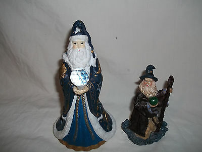 Porcelin Wizard Candle Holder and Wizard Figurine