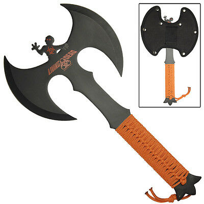 Living Dead Double Headed Full Tang Stainless Steel Outdoor Target Throwing Axe