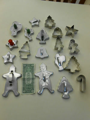 19 Metal Cookie Cutters, Most Vintage, A Few Newer, A Few Antique