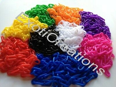 2mm Plastic Chain (Qty 50 ft) Bird Toy Parts Plastic Jewelry Chain