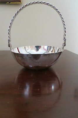 Silver Plated Handled Bowl/Small Basket