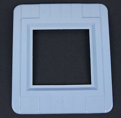 Vtg Blue Switch Oulet Cover Decorative Wall Protector Shield Plate Double Gang