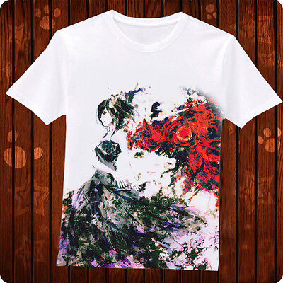 Anime Tokyo Ghoul Costume Sport T-shirt Japanese Short Sleeve Tee Tops S to XL