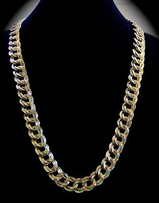 Neiman Marcus Retired Lee Angel Signed 18k Gold GP Link Chain Long Necklace $575