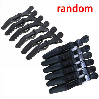 6x Matte Salon Hairdressing Tools Crocodile Hair Section Clips Claw Clamp Clips