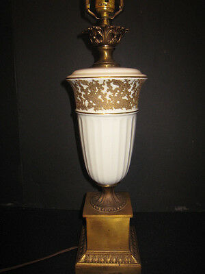 BEAUTIFUL Vintage Tyndale Frederick Cooper Hollywood Regency Ivory/Gold/Brass