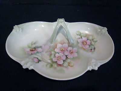Beautiful Hand Painted Floral Celery, Relish, Candy Dish...Vintage Shabby Paris